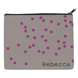 Print Your Own Fuchsia Natural Polka Dots Bag (8 X 10 Inch)