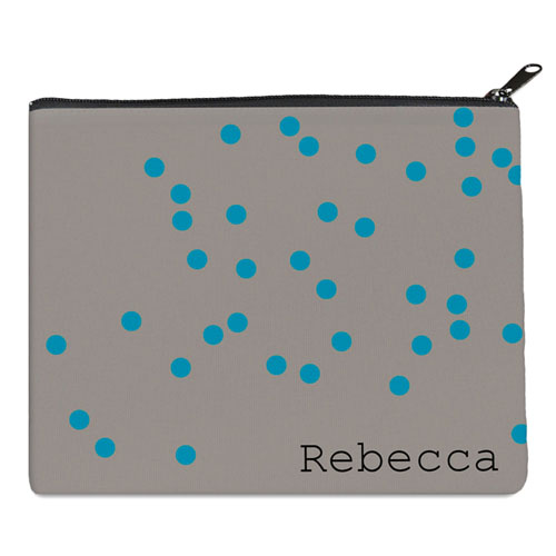 Print Your Own Turquoise Natural Polka Dots Bag (8 X 10 Inch)