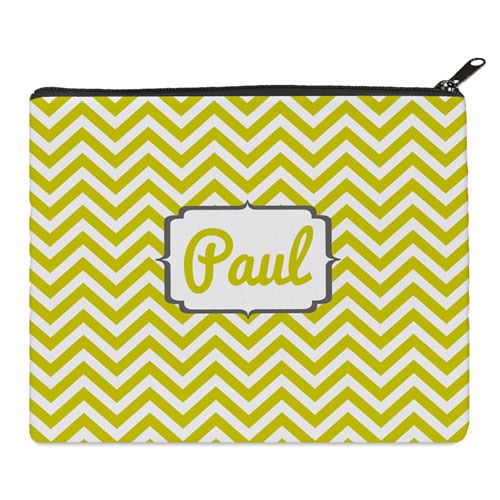 Print Your Own Yellow Chevron Bag (8 X 10 Inch)