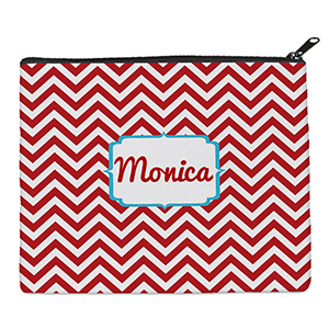 Print Your Own Red Chevron Bag (8 X 10 Inch)