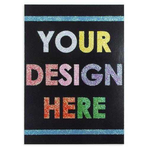 Custom Design Glitter Card