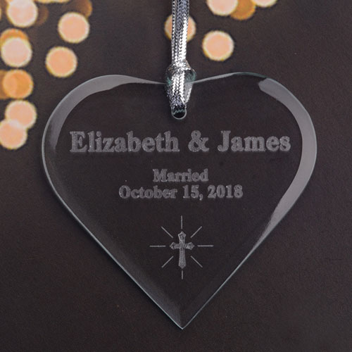 Personalized Engraved Sweet Heart Heart Shaped Ornament