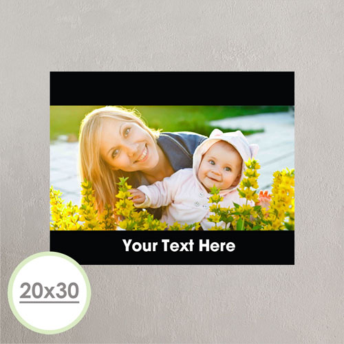Large Photo Poster Print 20X30 Black