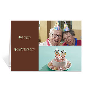 Personalized Elegant Collage Chocolate Birthday Greetings Greeting Cards