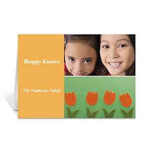 Elegant Collage Orange Easter Greetings