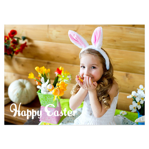 Personalized Full Photo Easter Invitations, 5X7 Stationery Card