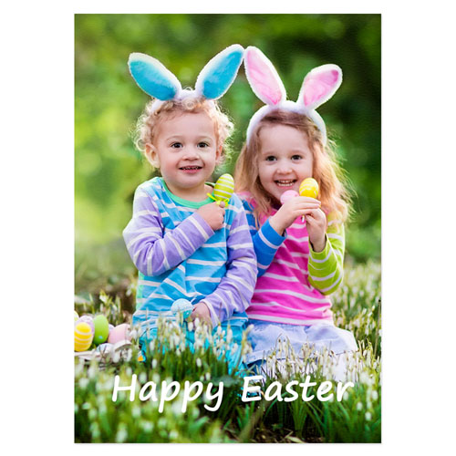 Full Photo Easter Invitations, 5x7 Portrait Stationery Card