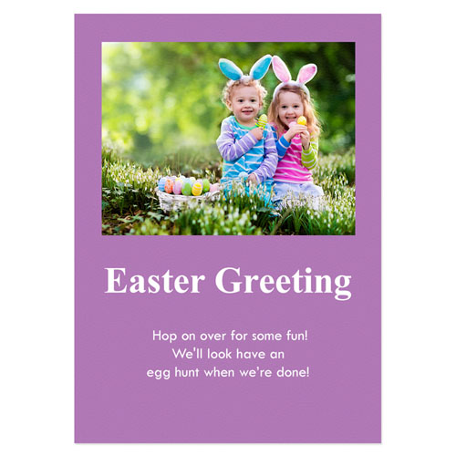 Personalized Baby Purple Easter Invitations, 5X7 Stationery Card