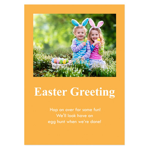 Personalized Baby Orange Easter Invitations, 5X7 Stationery Card