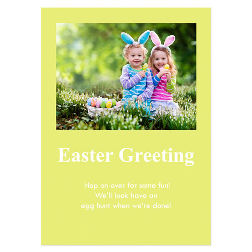 Personalized Baby Yellow Easter Invitations, 5X7 Stationery Card