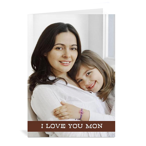 Personalized Mothers Day Greeting Cards, 5X7 Folded Chocolate
