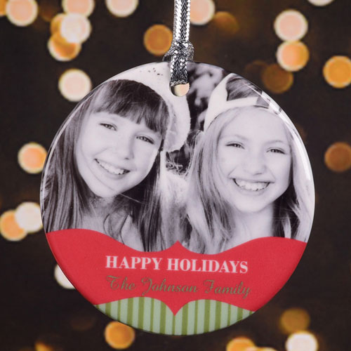 Countless Blessings Personalized Photo Porcelain Ornament