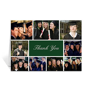 Custom Printed Graduate Green Greeting Card