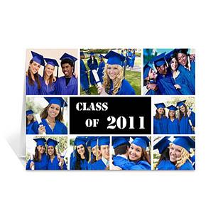 Custom Printed 2011 Graduate, Sporty Black Greeting Card