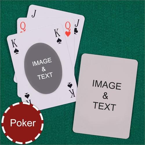 Poker Ovate Bridge Style Custom 2 Side Playing Cards