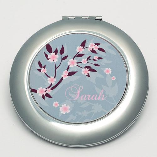 Personalized Flourish Round Make Up Mirror