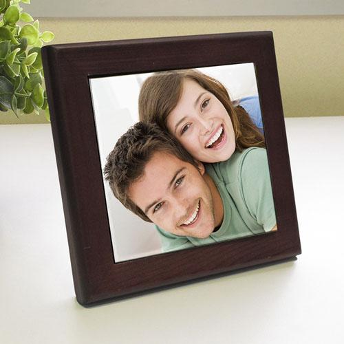 Custom Printed Precious Memory Wood Framed Ceramic Tile