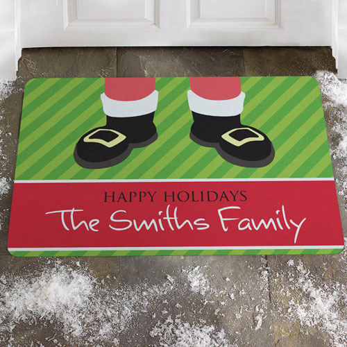 Create Your Own Santa, Happy Holidays Door Mat