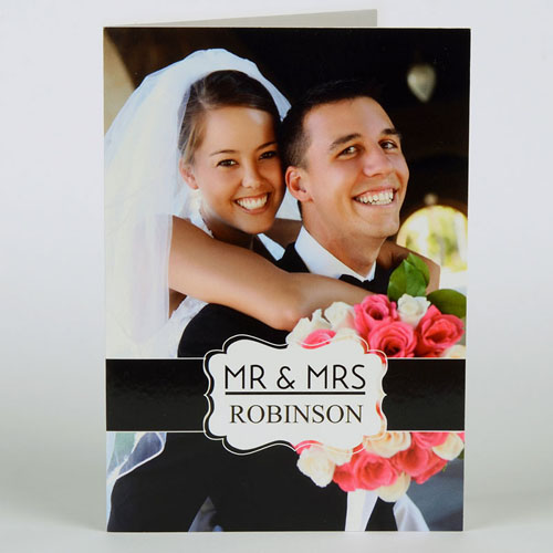 Custom Printed Timeless Thanks Greeting Card