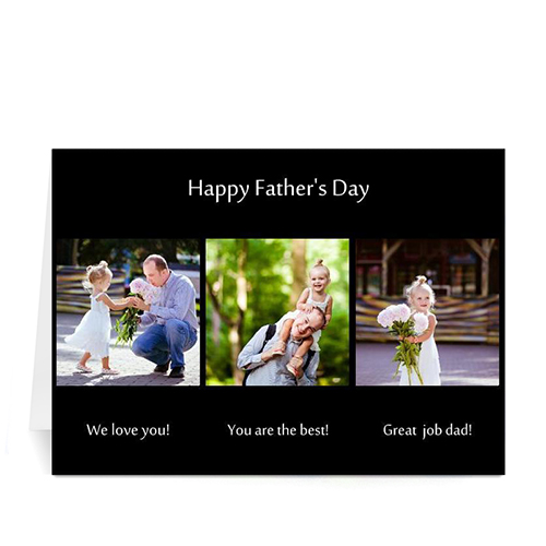 Custom Printed Made For Dad, Classic Black Greeting Card