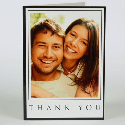 Custom Printed Lovely Union Thank You Greeting Card
