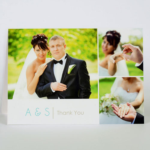 Custom Printed Modern Thank You Greeting Card