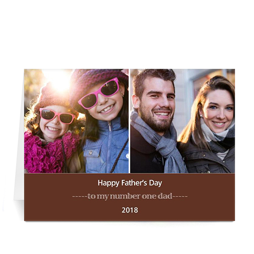 Custom Printed World's Best Dad, Cocoa Greeting Card