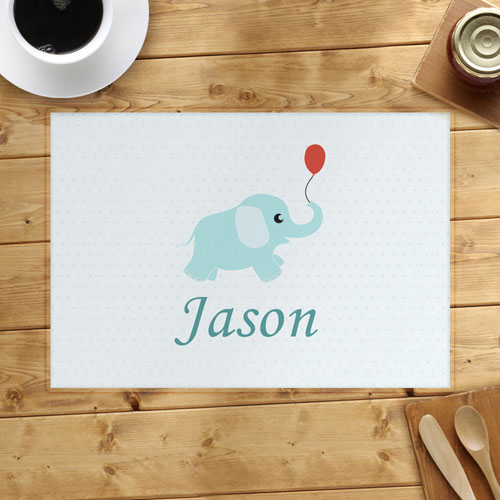Personalized Elephant Placemats