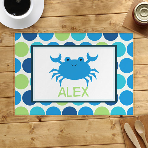Personalized Crab Placemats