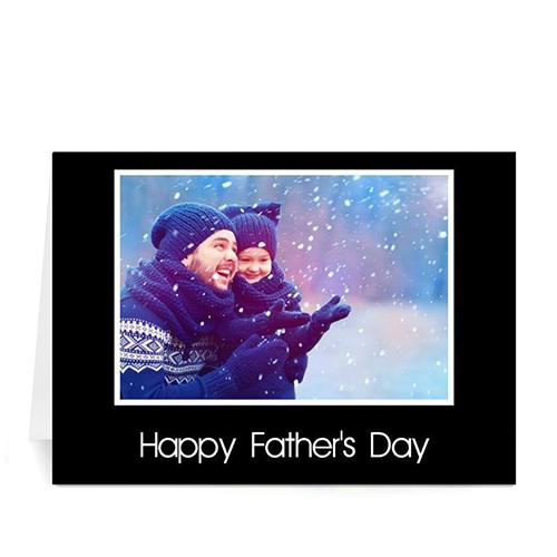Custom Printed I Love Daddy, Classic Black Greeting Card