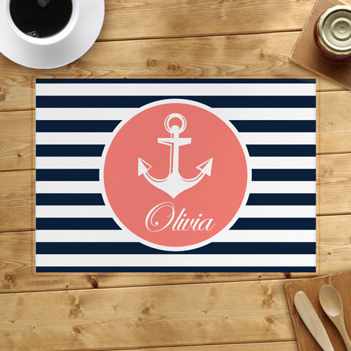 Personalized Anchor Placemats