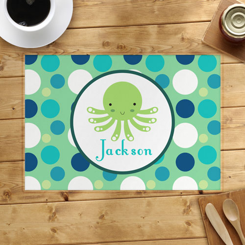 Personalized Octopus Placemats