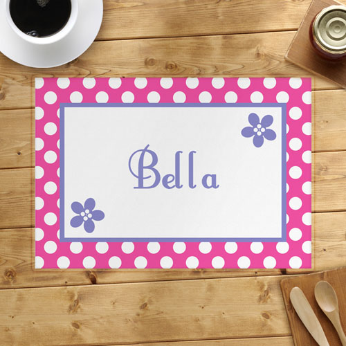 Personalized Flower Placemats