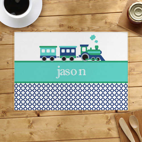 Personalized Train Placemats