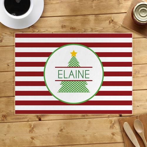 Personalized Christmas Tree Placemats