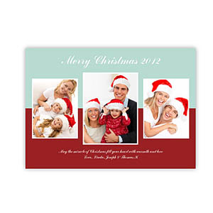 Personalized Merry Modern Collage Snow Christmas Party Invitation Cards