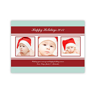 Personalized Holiday Charms Snow Christmas Party Invitation Cards