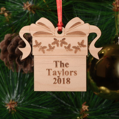 Christmas Gift Personalized Wood Ornament