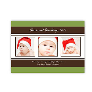 Personalized Holiday Charms Green Christmas Party Invitation Cards