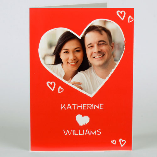 Custom Printed So Much Love Personalized Valentine Card