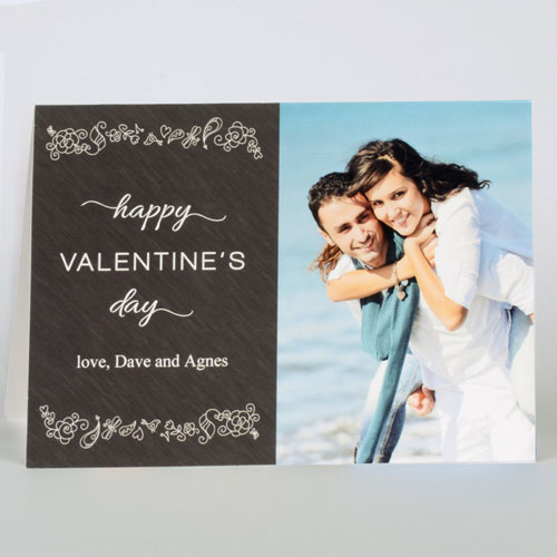 Custom Printed Love To Yours Personalized Photo Valentine's Card