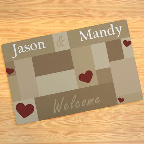 Create your own welcome door mat for Design your own door