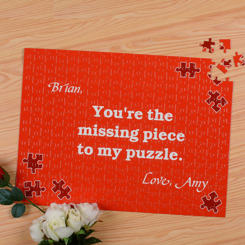 Missing Piece Personalized Puzzle 12X16.5