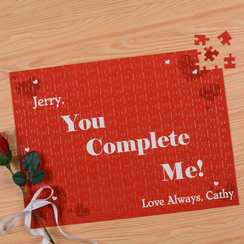 You Complete Me Personalized Puzzle 12X16.5