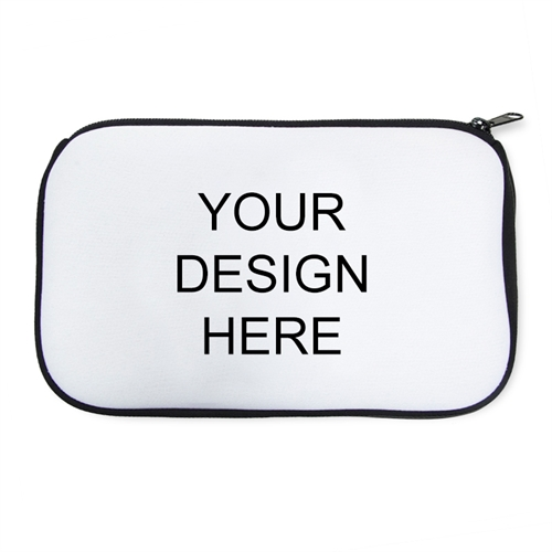 Personalized Neoprene Your Design Here  Black Cosmetic Bag (6 X 10 Inch)