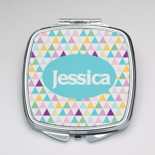Personalized Triangle Compact Make Up Mirror