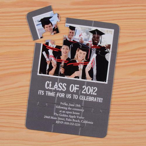 Personalized Graduation Class Puzzle Invite