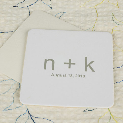 Custom Initial Square (Set Of 12) Personalized Coasters