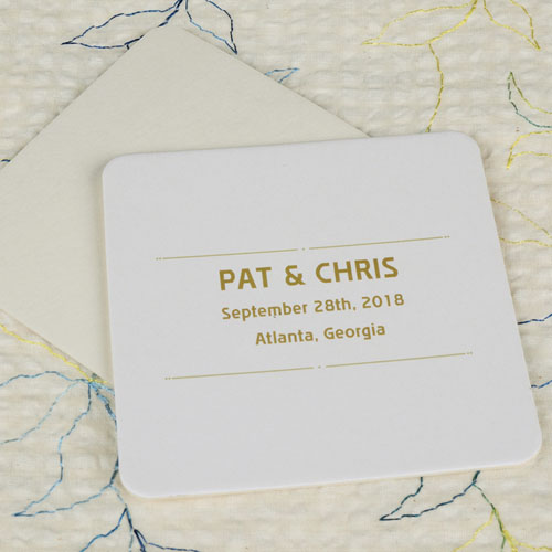 Celebration Square (Set Of 12) Personalized Coasters