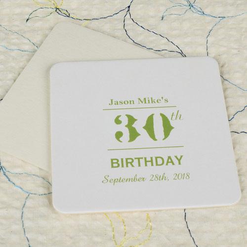 Birthday Celebration Square (Set Of 12) Personalized Coasters